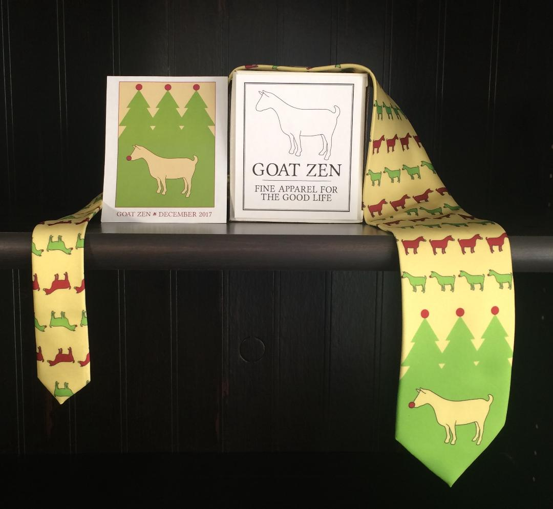 The Goat Zen Christmas Tie